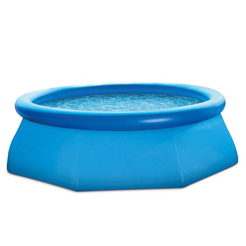 SMGPY Marco Piscina, Verano al Aire Libre diversión Durante Piscina para niños, Bañera Inflable de PVC, fácil de Montar, Rectangular Piscina para niños, 244 * los 76CM Azul,3.05 * 0.76M