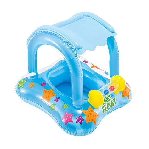 Lifesongs Schwimmhilfen Für Kinder Mit Dach, Aufblasbares Schwimmboot Mit Sonnenschutz-Schwimmring Aufblasbares Spielzeug Für Kleinkinder Kleinkinder
