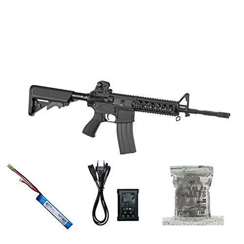 Set !!! Softair - Gewehr - G & G M4 CM16 Raider-L - AB 14, Unter 0,5 Joule