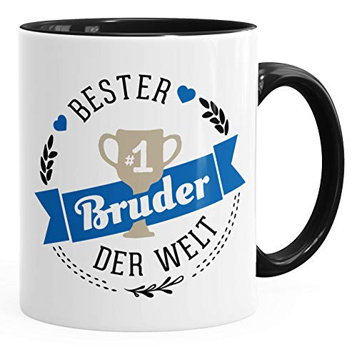 Kaffee-Tasse bester Bruder der Welt Geschenk für Bruder MoonWorks® schwarz unisize
