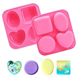 BigOtters Silicone Baking Mold, Candy Mold Chocolate Cover Cookie Mold for Handmade Soap Mousse Cake Dessert Biscuit DIY Baking Tools