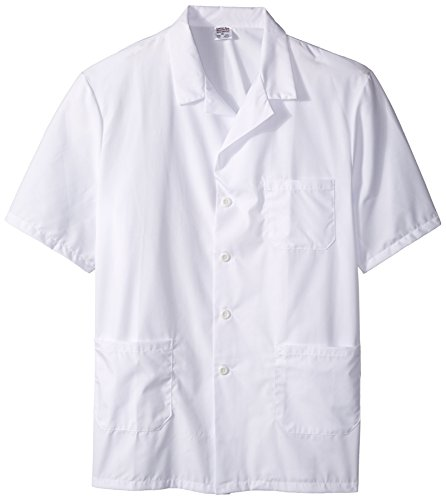 XX-Large 41 Length Worklon 438XXL 65/% Polyester//35/% Combed Cotton Poplin Ladies Full Length Lab Coat White Button Front 41 Length