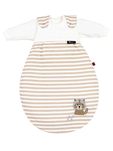 s.Oliver by Alvi Baby Mäxchen Schlafsack Waschbär 3-teilig, Größe:56/62, Dessin:Waschbär beige