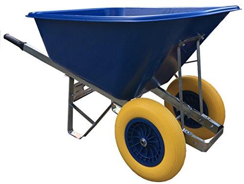 wheelbarrow 200l blue Puncture-Proof wheels