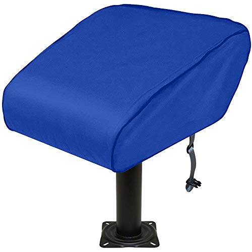 SoGuDio Boat Folding Seat Cover 420D Waterproof Heavy-Duty Weather Resistant Material Trailerable Fishing Chair Cover Full Length Protection for Your Boat Seat Cover (Blue)