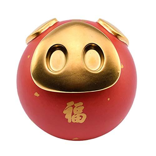 Geldbanken für Kinder Keramik-reizendes Schwein-Münzen-Bank-Spielzeug-Bank Multifunktions-Piggy Bank-Tee-Topf Stifthalter Weihnachten Geburtstag for Kinder Jungen Mädchen Geldbanken ( Color : Red )