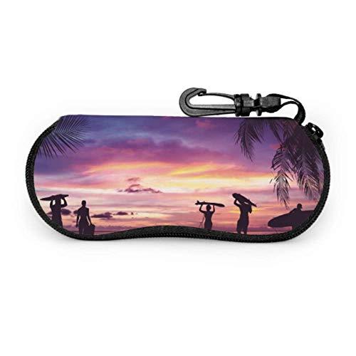 AEMAPE Muchas tablas de surf diferentes Estuche para gafas Estuche protector para gafas de sol Estuche ligero portátil con cremallera Estuche blando Estuche para gafas para mujer