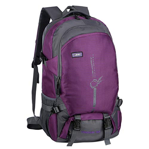 MOZX Hiking Backpack,45L Ultra Lightweight Packable Backpack for Men Women Kids Water Resistant Foldable Rucksack, for Hiking Camping Traveling Cycling,Purple