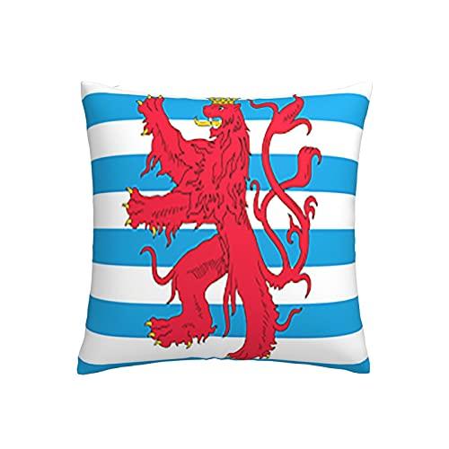 Duchy of Luxemburg - Funda de cojín cuadrada decorativa para sofá, hogar, dormitorio, interior y exterior, funda de almohada de 45,7 x 45,7 cm