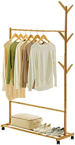 FF Coat rack Floor Home Bedroom Mobile hanger Multifunctionele kapstok Enkele paal (Maat: 100 cm)