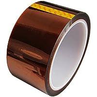 UEETEK Cinta pegajosa para la impresora 3D Ancho Cinta resistente al calor de alta temperatura Cinta adhesiva de película de poliimida 33M Longitud 50MM Ancho