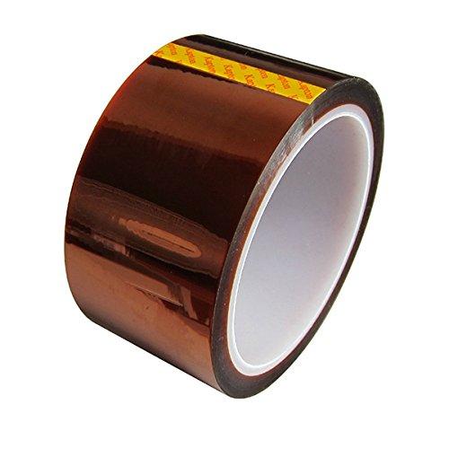 UEETEK Klebeband für 3D-Drucker breiten hohen Temperaturen hitzebeständig Polyimid Film Klebeband 33M Bandlänge 50 MM breite