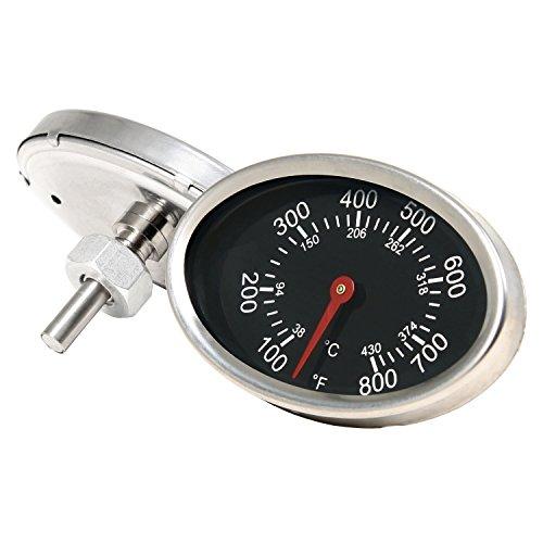 BBQ-TORO ovale barbecuethermometer tot 430 °C / 800 °F, thermometer voor alle grills, rookovens en grillwagen, analoog, grillaccessoires (display: Celsius en Fahrenheit)