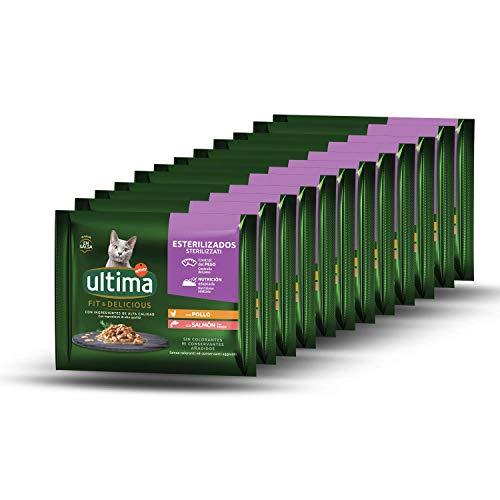 Ultima Cibo Umido Per Gatti Con Pollo E Salmone - 4 X 85Gr X 12 (4,08 Kg) - 4080 g