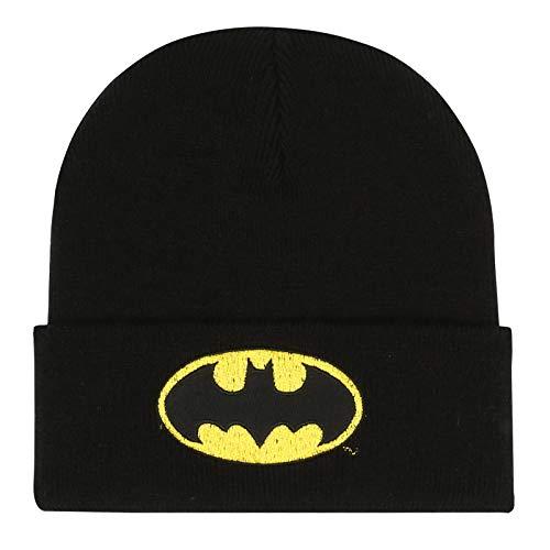 DC Comics Herren Batman Logo Strickmütze, Schwarz (Black BLK), Einheitsgröße
