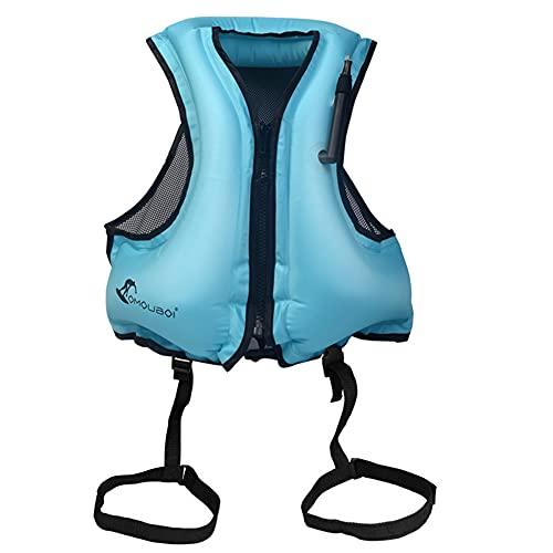 Snowvirtuos Sommer Aufblasbare Schwimmweste für Erwachsene Kinder für Schnorchelweste für Kajak Bootfahren, Schnorcheln