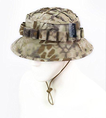 ZAPT Boonie Hat Military Camo Cap Hunter Sniper Ghillie Bucket Hats Adjustable Jungle Bush Hat (Highlander Camo)