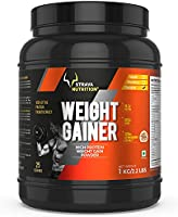 Strava Nutrition Weight Gainer with Whey protein, Ashwagandha extract and digestive enzymes (Chocolate Flavour) 1kg /...
