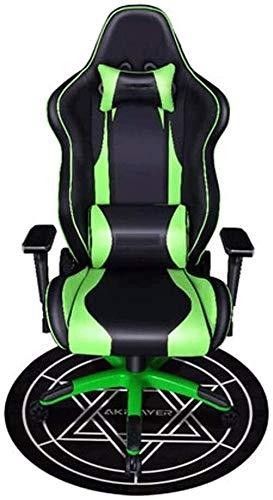 PULLEY Silla de juego, cómoda silla de oficina, respaldo para el hogar, silla deportiva ajustable, giratoria con reposacabezas extraíble y soporte lumbar (color: F)