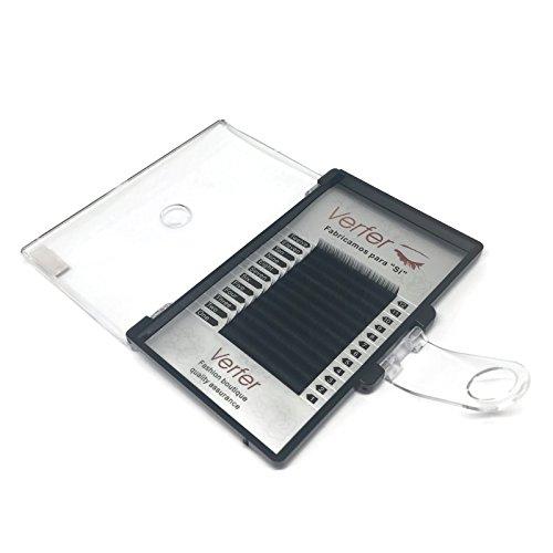 Extension de cils Professional Noir MAT 0.10, 8mm-12mm Curl B/C, Extension de cils Professional (0,10 8mm B)