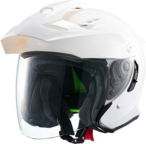 マルシン(MARUSHIN) バイクヘルメット スポーツ ジェット TE-1 ホワイト Lサイズ (59-60cm) MSJ1 1001115