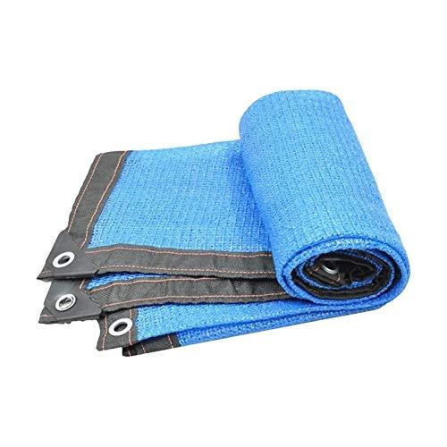 ZZYE Malla Sombreo Inicio Pérgola Cubierta de Sombra Sunblock Patio Patio Canopy, Paño Permeable de HDPE con Ojales, 90% Sunblock & UV Resistente Lona Toldo (Color : Blue, Size : 3x5m)