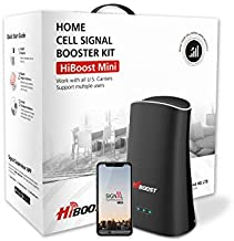 Hiboost Cell Phone Signal Booster for Home & Office, Boosts 4G LTE Voice and Data for All U.S. Carriers - Verizon, T-Mobile, Sprint, AT&T| Up to 2,000 sq. ft. Cellular Repeater Amplifier Kits with APP