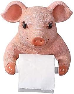 Uchwyt rolki toaletowej Uchwyt do tkanki toaletowej Przechowywanie Magazyn Cartoon Świnia Uchwyt Tkanki, Żywica Darmowa Uc...