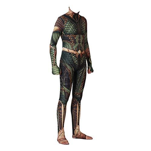 BCOGGLe - Mono de disfraz de anime DC Comic Aquaman para cosplay