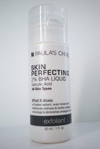 Paula's Choice-SKIN PERFECTING 2% BHA Liquid Salicylic Acid Exfoliant, 1 Ounce Travel Size Bottle Facial Exfoliant for Blackheads Enlarged Pores Wrinkles Fine Lines