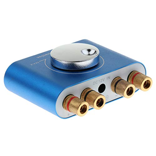 F Fityle Amplificador Inalámbrico de Audio HiFi de Potencia 60W, Conexión de Bluetooth 4.2