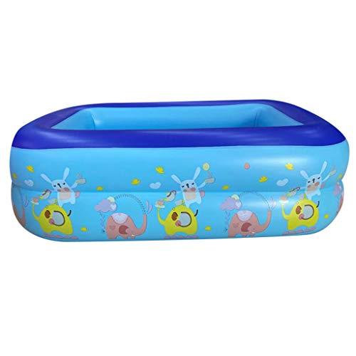 HROIJSL Planschbecken Baby Zelt Pop Up Bällepool mit Sonnenschutz UV Schutz tragbare Spielzelt Bällebad Indoor Outdoor Strand Baldachin Garten Blau Family Pool rechteckig blau (120x90x35cm)