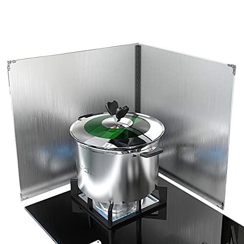 Protector Contra Salpicaduras Para Sartenes Protector Contra Salpicaduras Antiadherente Cocina Protector Acero Inoxidable Estufa Plegable 2 Lados,45×50cm