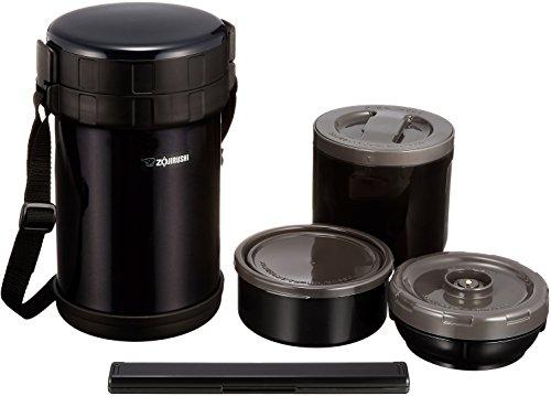 象印マホービン(ZOJIRUSHI)保温ステンレス弁当箱ランチジャー茶碗約4杯分約1.6合電子レンジ対応ブラックSL-XE20-AD