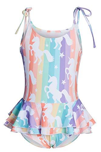 Cutemile Badeanzug-Bikini Für Mädchen Kinder Bunt Gefärbte Entzückende Regenbogenpferde Badegäste Sportbikini Sommer Coole Atmungsaktive Uv-Badebekleidung Feiertage Strandsurfen Im Freien
