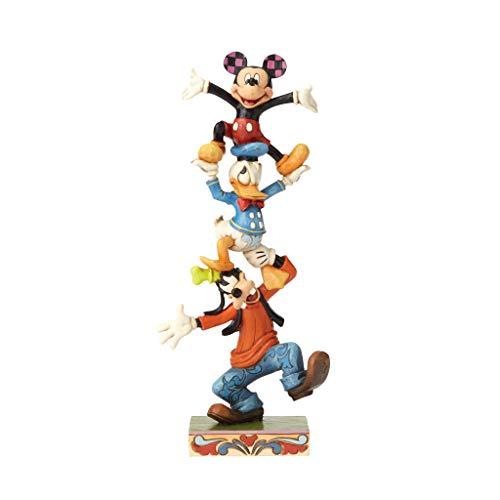 Disney Tradition 4055412 Figur Teetering Tower, Goofy, Donald Duck & Mickey Mouse, Harz, mehrfarbig, 10 x 6 x 22 cm