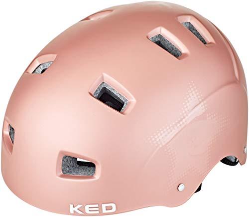 KED Risco Helm Rose Star Matte Kopfumfang L | 57-62cm 2020 Fahrradhelm