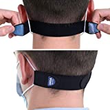 URSA Maskies: Soft, Light, Stretchy & Comfortable Face Mask Ear Savers. Premium Quality Fabric with Strong Adjustable Low-Profile Hook Tape. Made in The UK