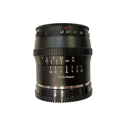 TTARTISAN 50mm F1.2 Objetivo Fija de Enfoque Manual de Gran Apertura, Compatible con...