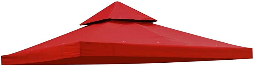 Yescom 10'x10' Gazebo Canopy Top Replacement 2 Tier UV30+ 200g/sqm Outdoor Garden Patio Red Cover