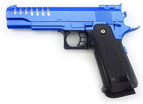 Rayline Softair Pistole Voll Metall V17 Blue (Manuell Federdruck), Nachbau im Maßstab 1:1, Länge: 22cm, Gewicht: 450g, Kaliber: 6mm, Farbe: Blau - (unter 0,5 Joule - ab 14 Jahre)