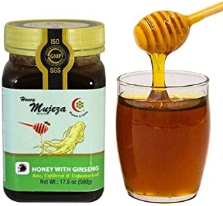 Sponsored Ad - Mujeza Raw Mountain Sidr Honey with Royal Jelly Bee Propolis Red Korean Ginseng Palm Pollen Black Seed Powd...