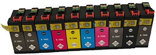 10 Pigment Druckerpatronen kompatibel für EPSON SureColor SC-P600 C11CE21301