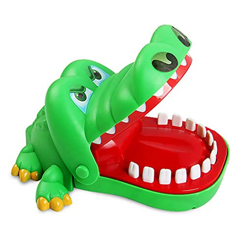 Sipobuy Crocodile Toy Classic Mund Zahnarzt Biss Finger Familie Spiel Kinder Kinder Action Geschicklichkeit Spiel Spielzeug