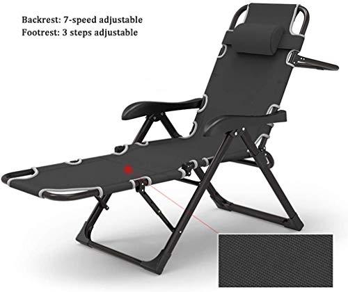 YZjk - Sillas de reclinación para Patio o Exterior, Silla de Patio, Silla Zero Gravity Chair, reposapiés Plegable Ajustable, diseño ergonómico con Pillow, para Techo, Patio, Playa, Yard