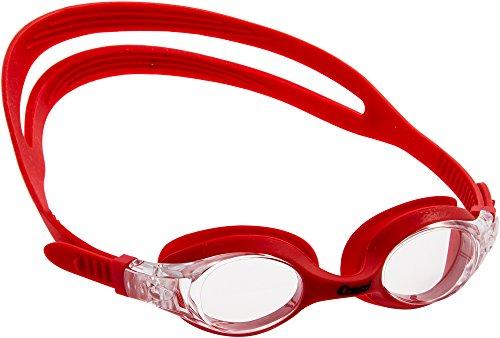 Cressi Kinder Dolphin 2.0 Premium Schwimmbrille, Rot/Transparent, Einheitsgröße
