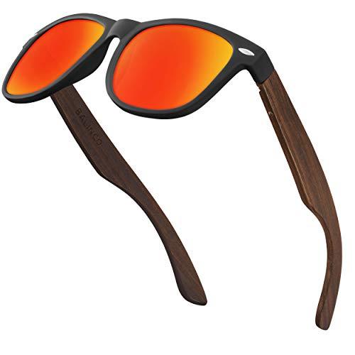 Balinco Juego de gafas de sol de bambú hombre y mujer - con lentes TAC polarizadas para una visión intensa - sostenibles y duraderas - incluye una práctica caja de regalo