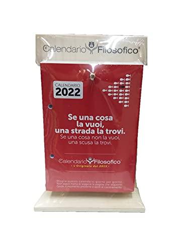 Calendario Filosofico 2022 da Tavolo con Supporto in Legno Formato A6 14x10 cm