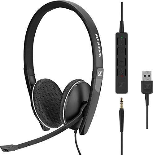 Sennheiser SC 165 USB (508317) – doppelseitiges (binaural) Headset für Geschäftsleute | mit HD-Stereo-Sound, Mikrofon mit Geräuschunterdrückung und USB-Anschluss (schwarz)