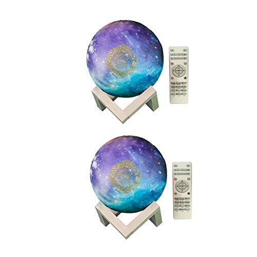 Amuzocity 2 altavoces musulmanes 3D de la luna del Corán altavoz Bluetooth Luna Noche